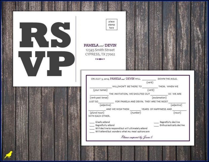Rsvp Postcard Template Free