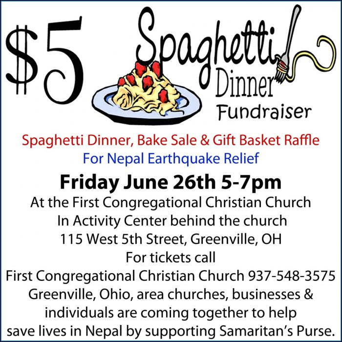 Spaghetti Dinner Tickets Template