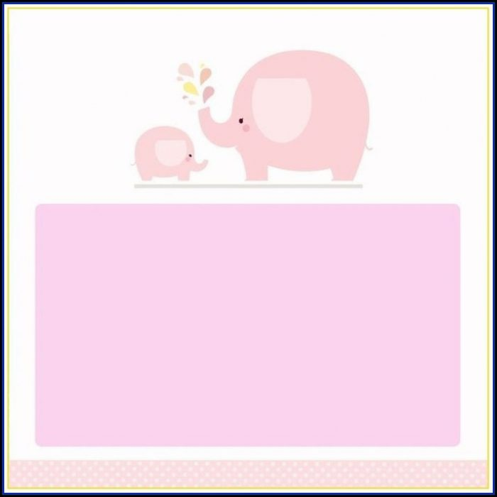 Teal Elephant Baby Shower Invitation Templates