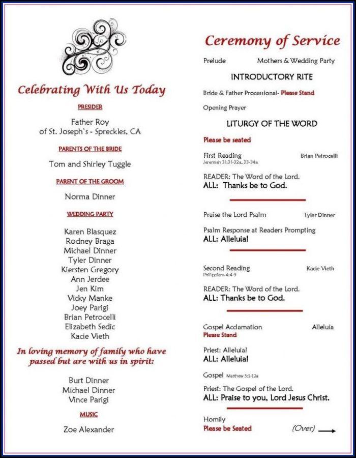 Wedding Ceremony Program Sample Philippines