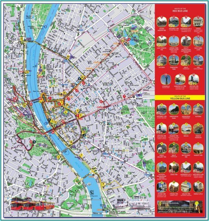 Budapest Hop On Hop Off Bus Tour Map