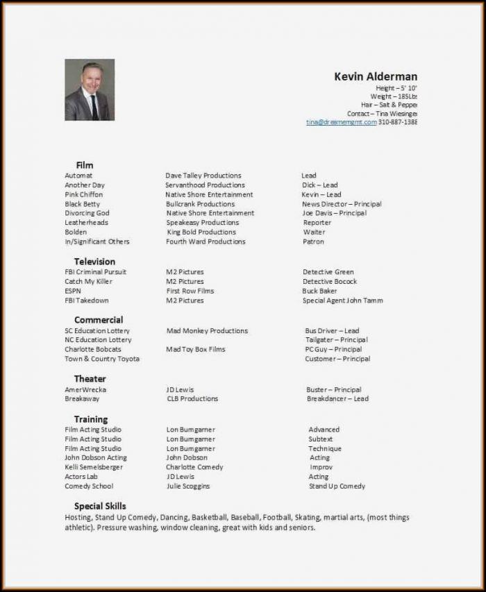 Free Actor Resume Builder