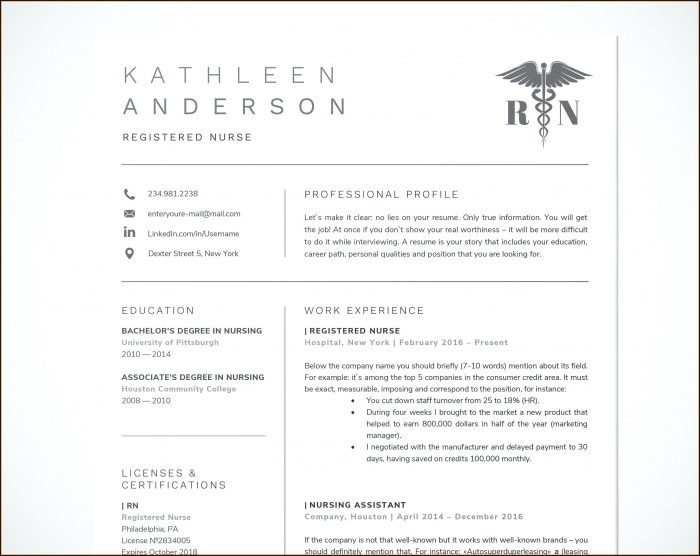 Free Rn Resume Template