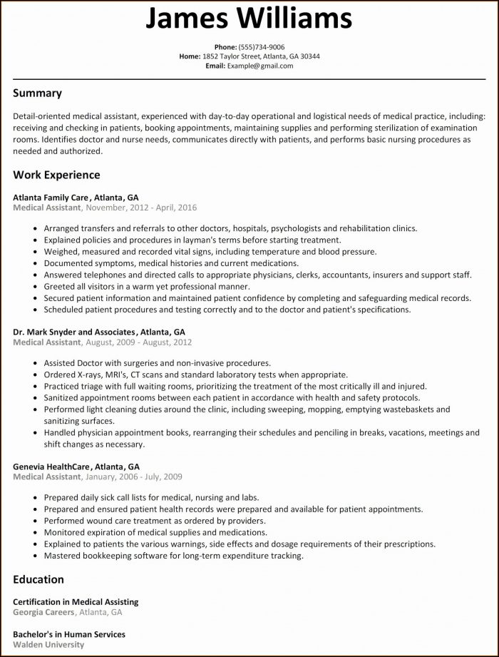 Free Simple Resume Templates 2019