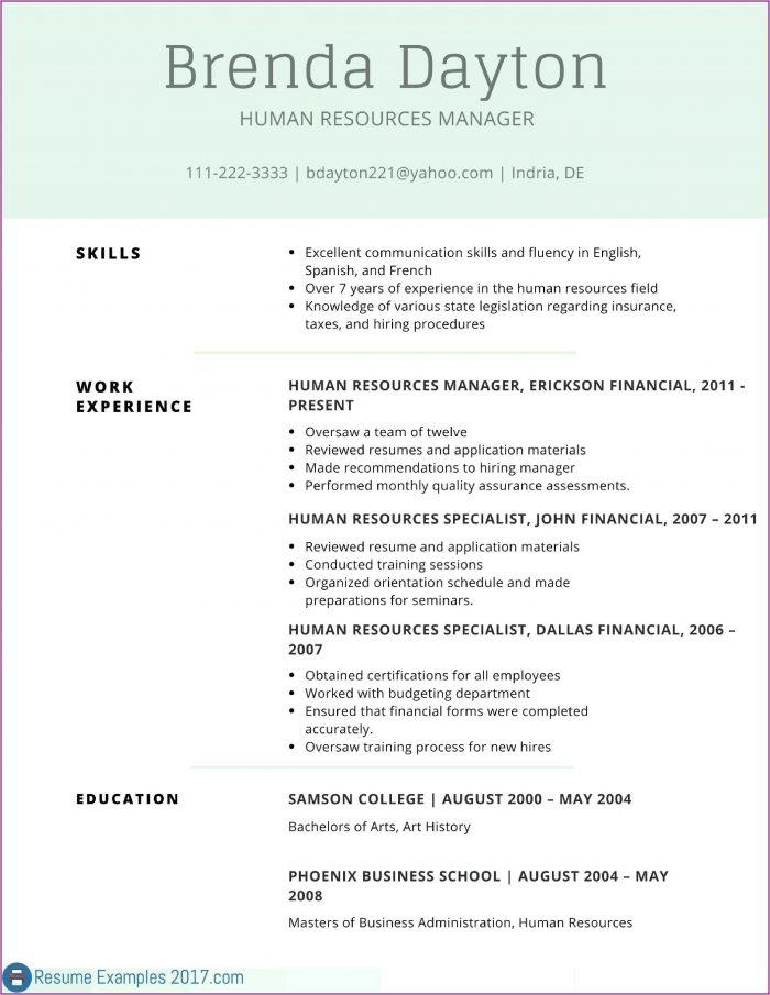 Good Resume For Cna