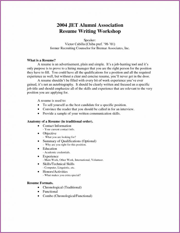 How To Write Up A Resume With No Work Experience