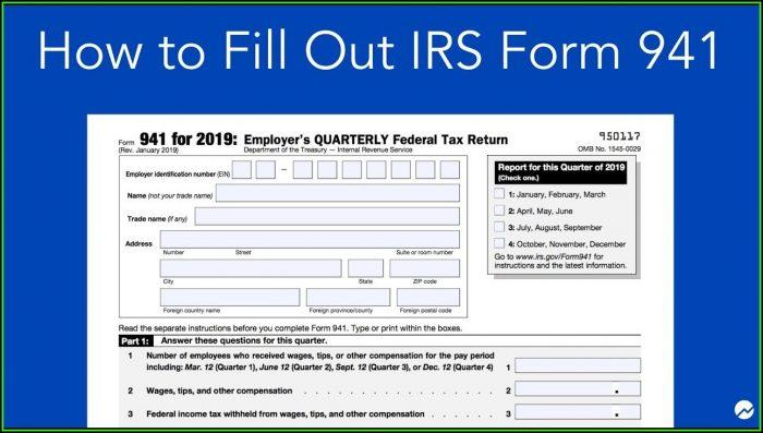 Irs.gov Form 941 For 2019