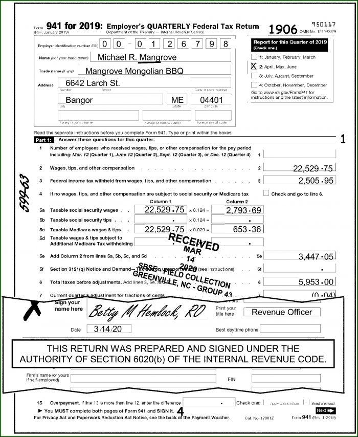 Irs.gov Forms 941c