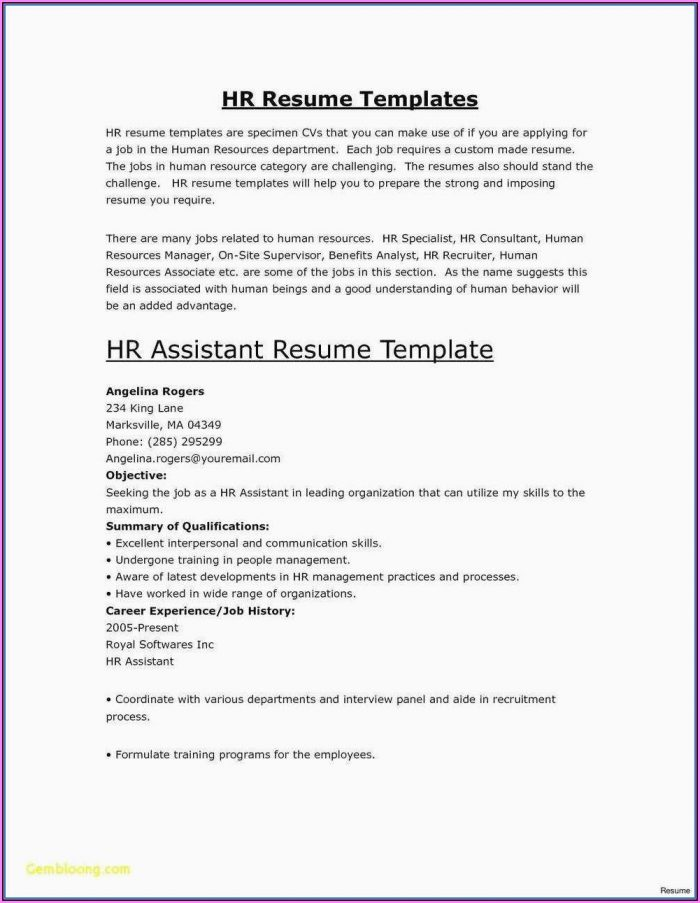 Make A Quick Resume Free