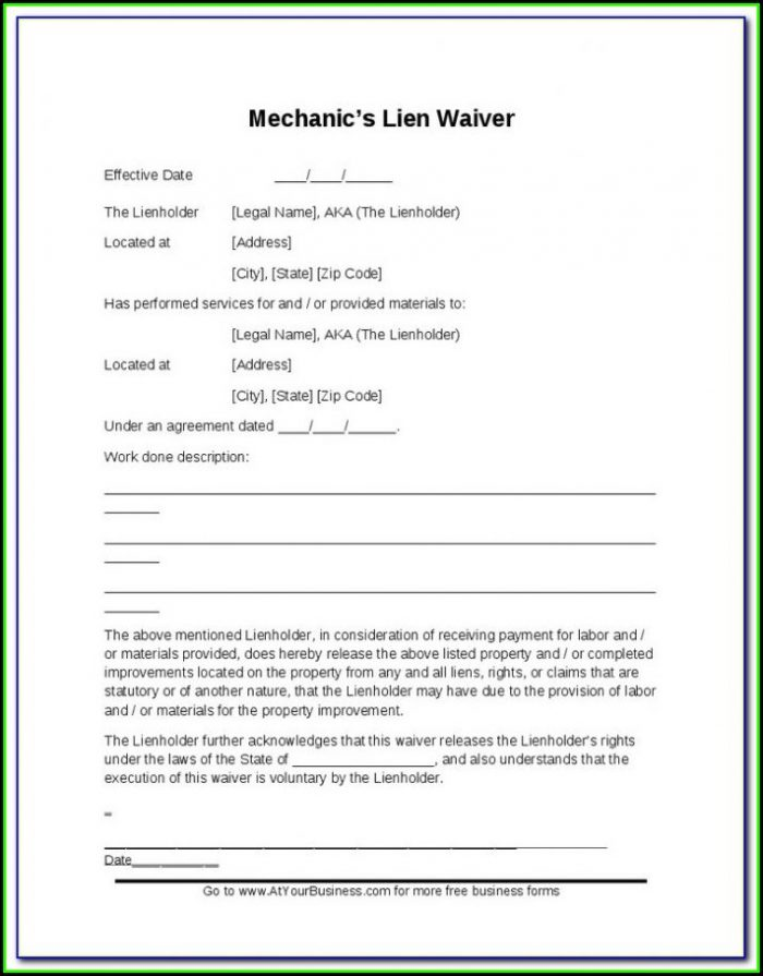Mechanics Lien Form California Pdf