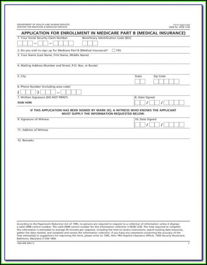 Medicare Enrolment Application Form