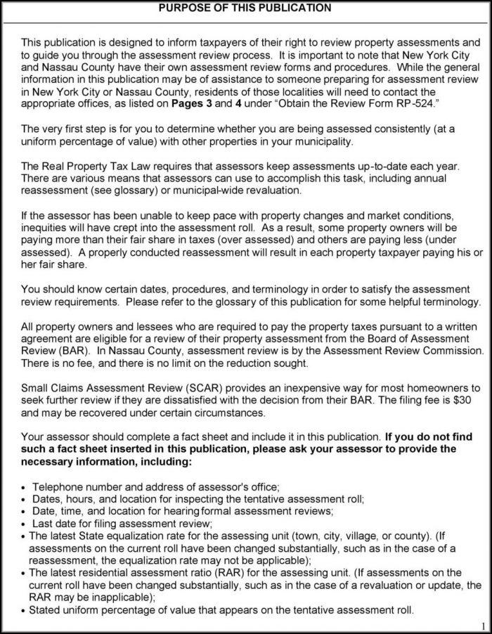 Nassau County Property Tax Grievance Form