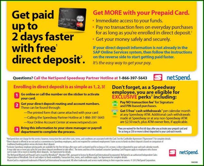 Netspend Card Direct Deposit Form