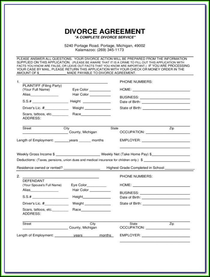 Oakland County Complaint For Divorce Form