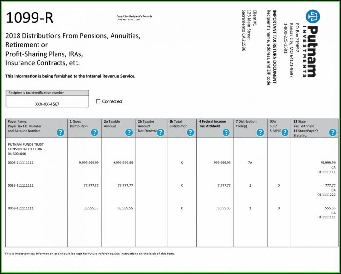 Ohio Form 1099 R