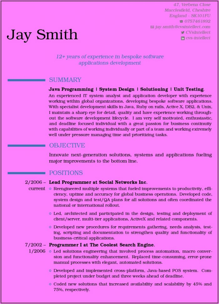 Online Free Resume Maker With Photo