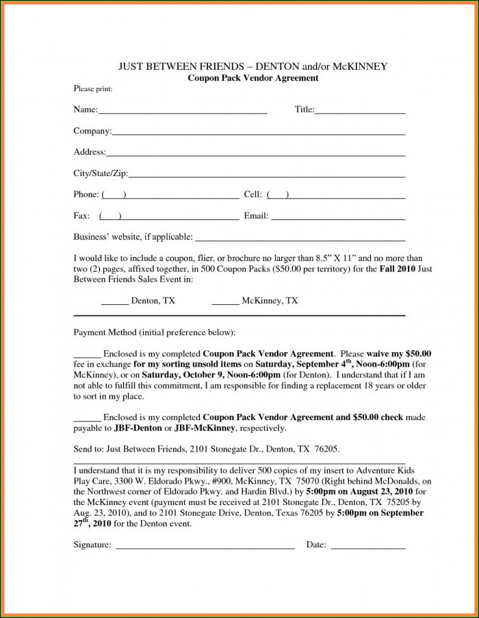 Personal Loan Agreement Form Sample
