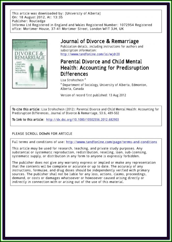Printable Divorce Forms Alberta