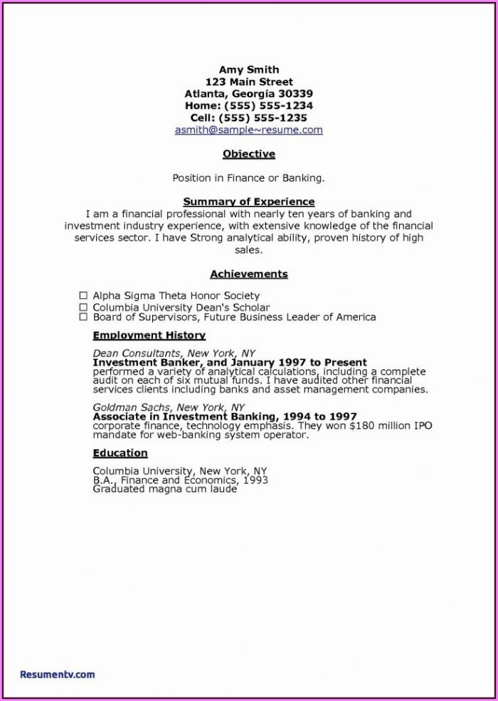 Printable Examples Of Bad Resumes