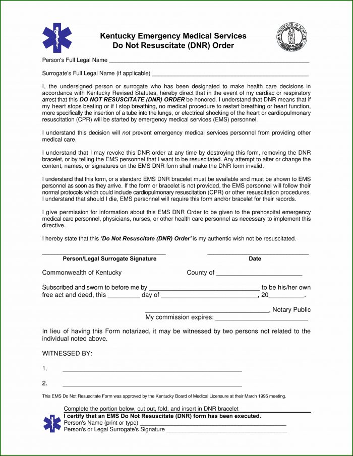 Printable Medical Power Of Attorney Form Ohio