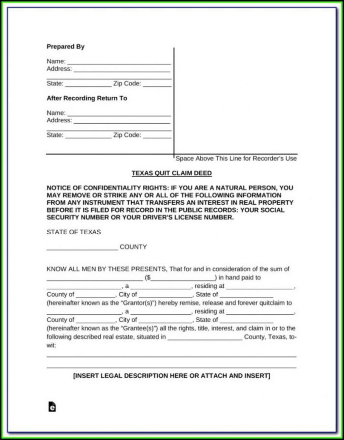 Quit Claim Deed Form Cuyahoga County Ohio