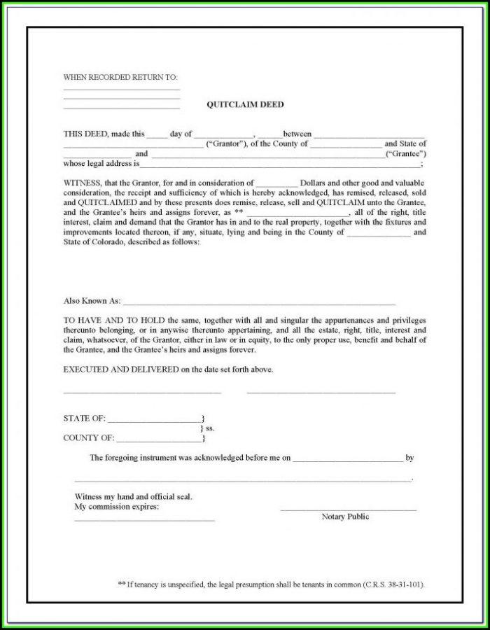 Quit Claim Deed Form Hamilton County Ohio