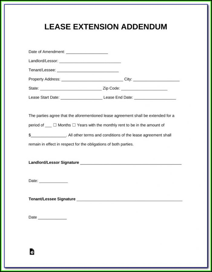 Renewal Lease Form Nyc Free