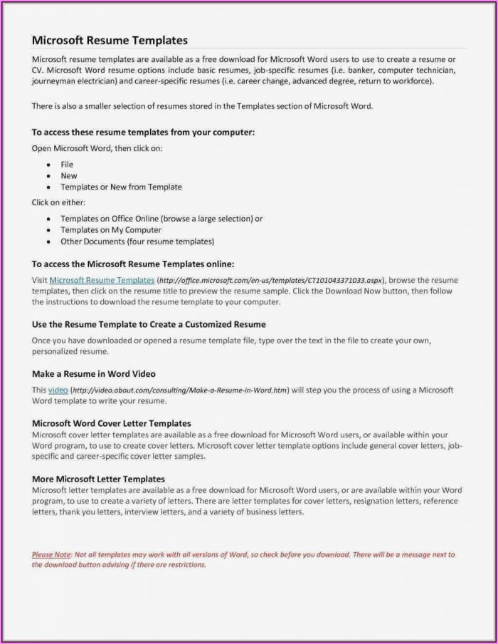 Resume Build Free Download