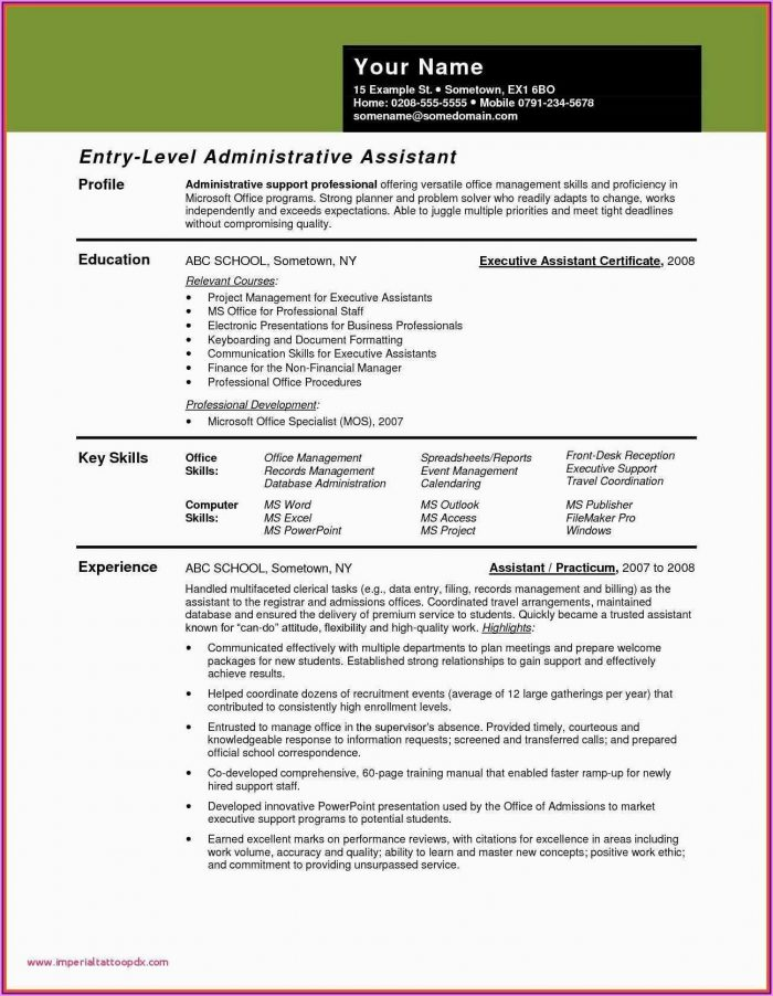 Resume Examples For Manager