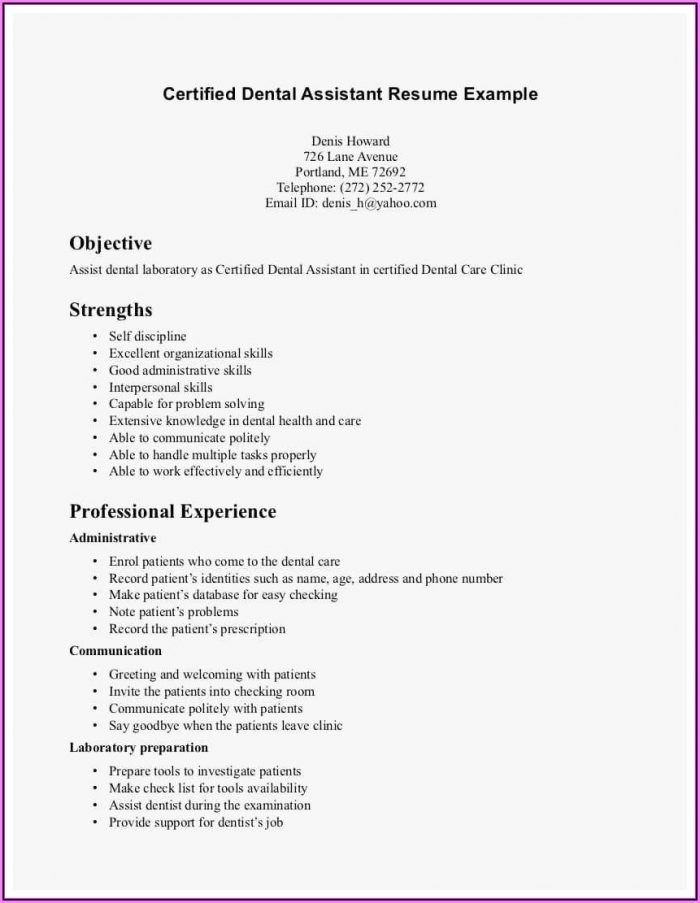 Resume Examples For Medical Assistant Jobs