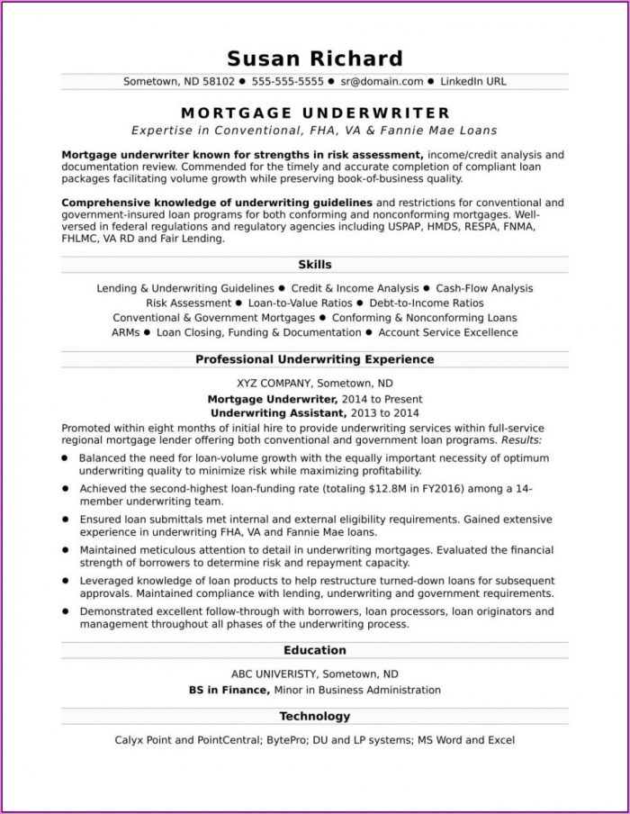 Resume Formats Examples