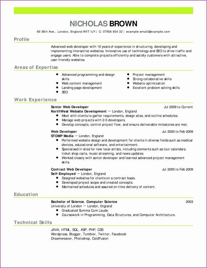 Resume Maker For Teenager