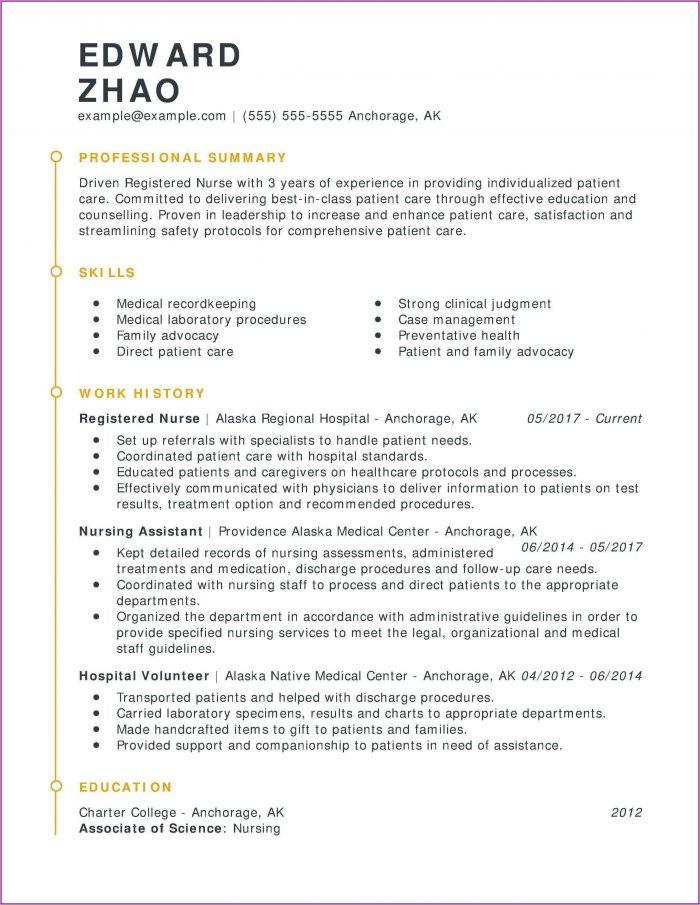 Resume Template For Nursing