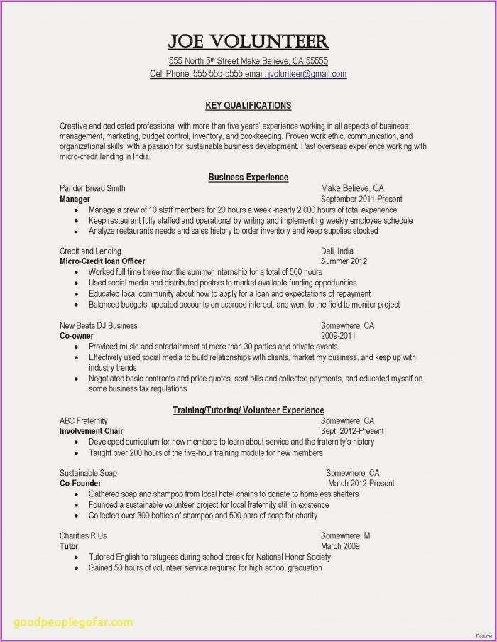 Resume Template For Nursing Job