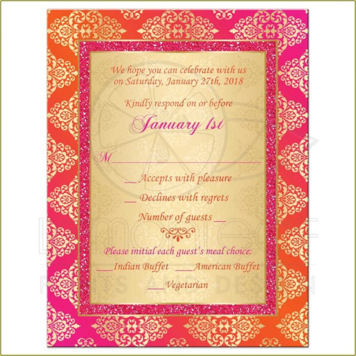 Rsvp Full Form In Indian Wedding Cards
