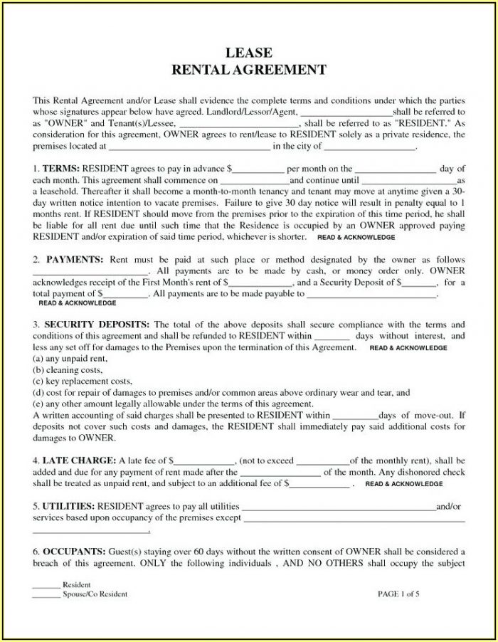 Sample Residential Lease Agreement Illinois