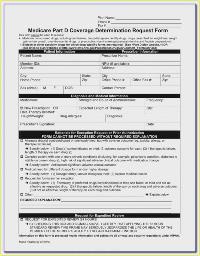 Social Security Medicare Part B Forms