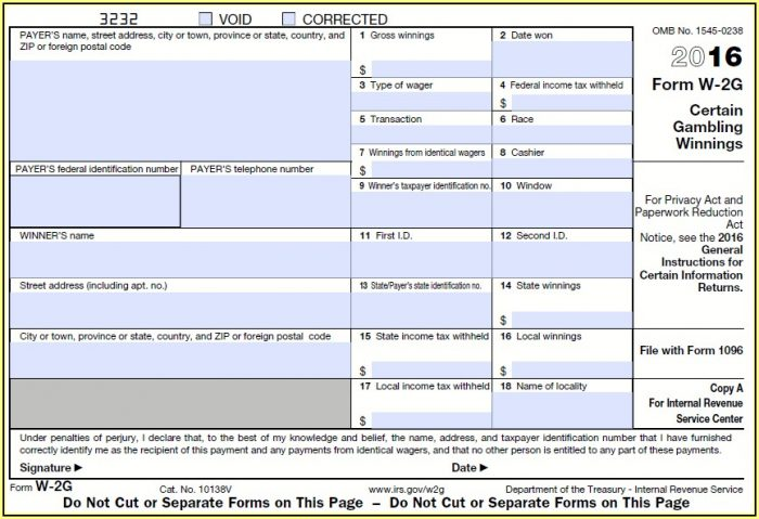 State Of Ohio Form 1099 G