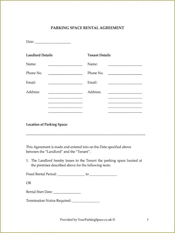 Sublease Rental Agreement Format