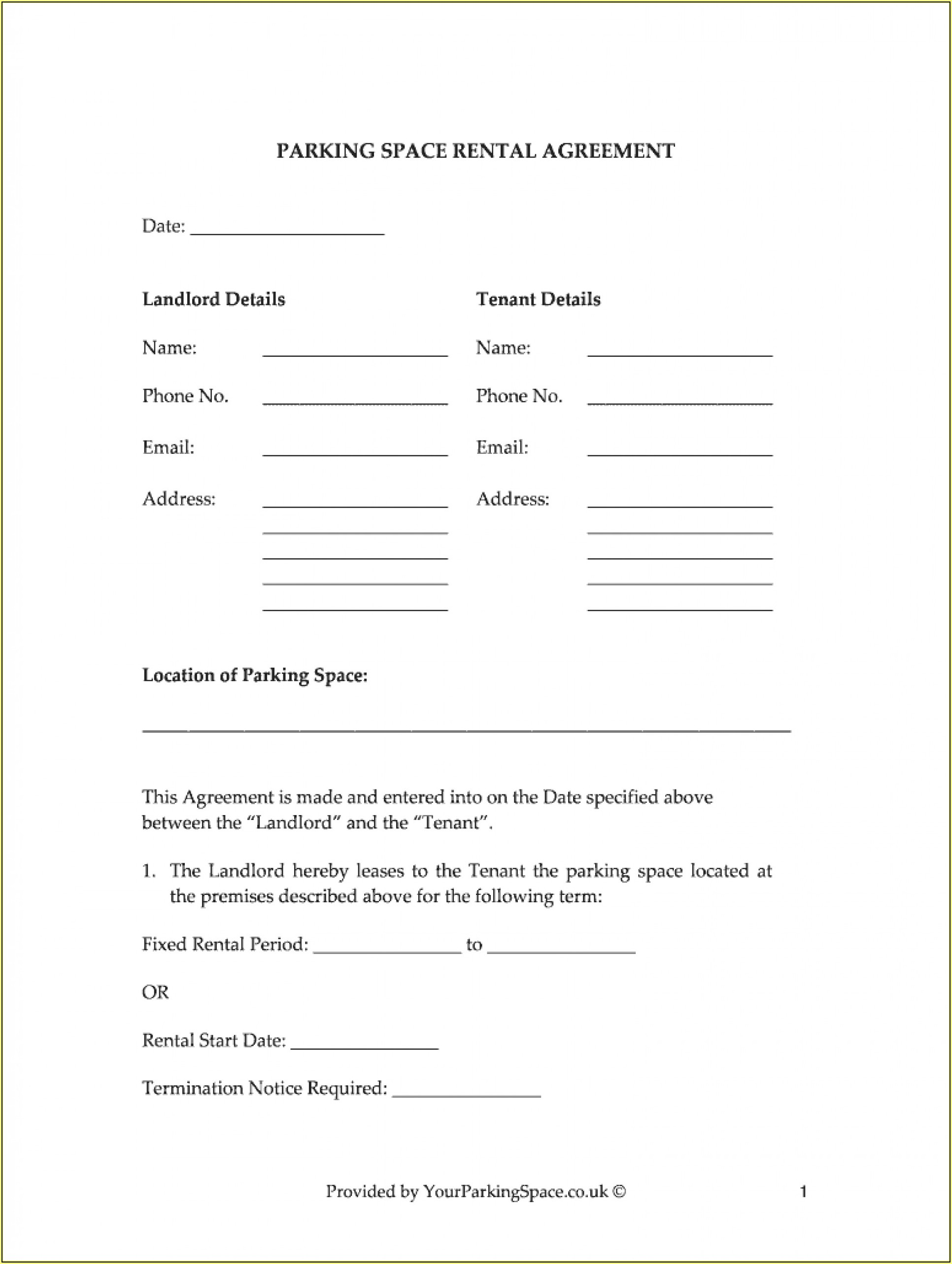Sublease Rental Agreement Format