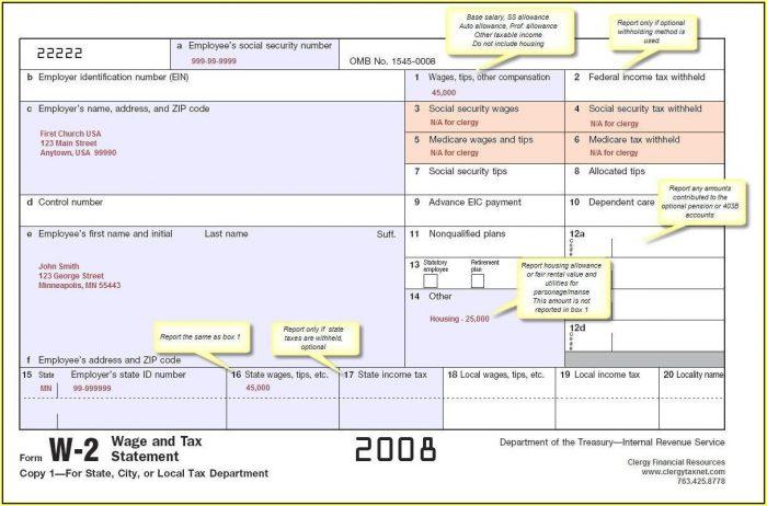 Tax Forms W2