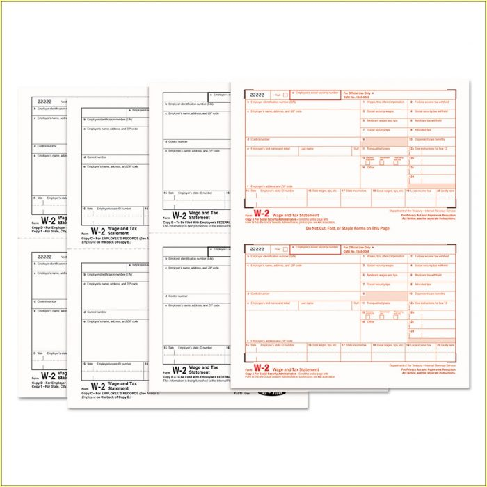 Tax Forms W2 Online