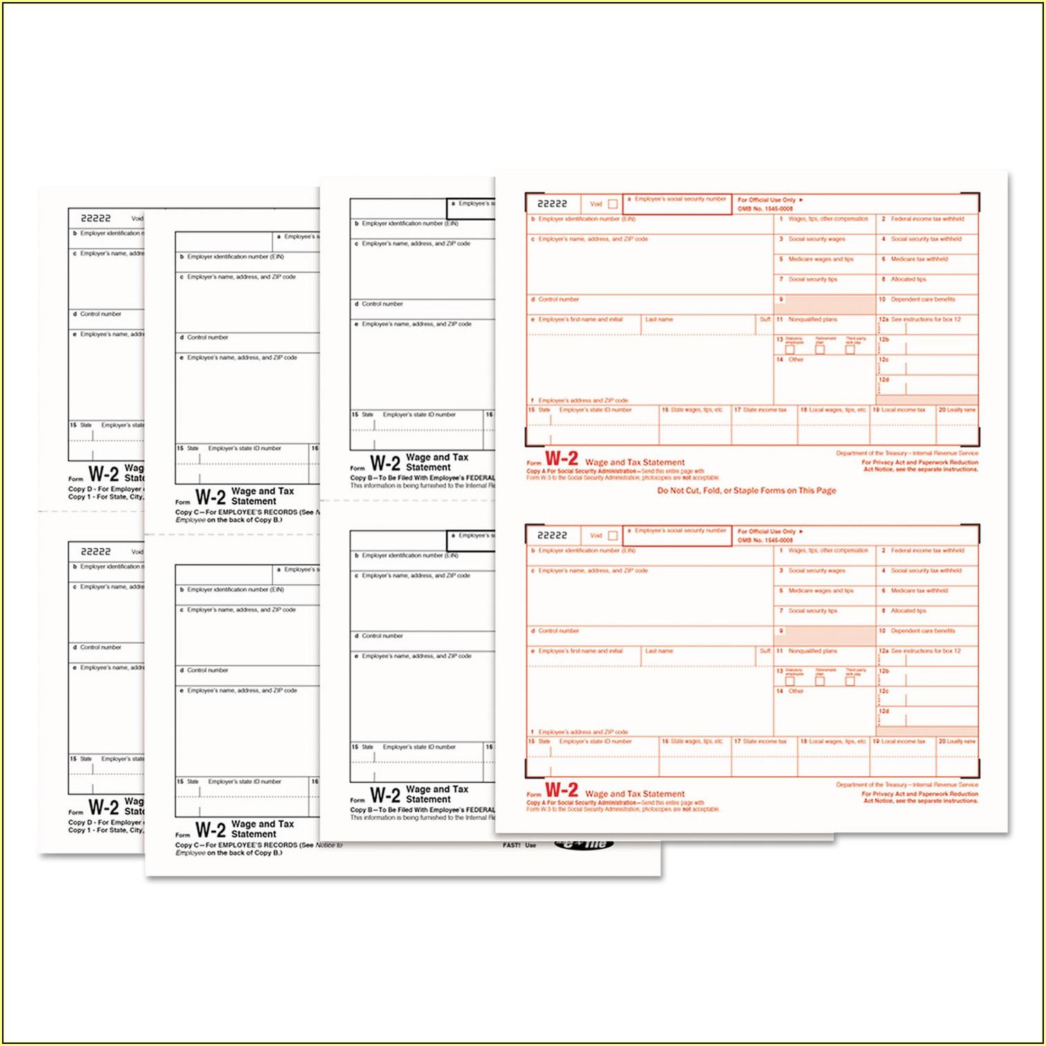 Tax Forms W2 Online