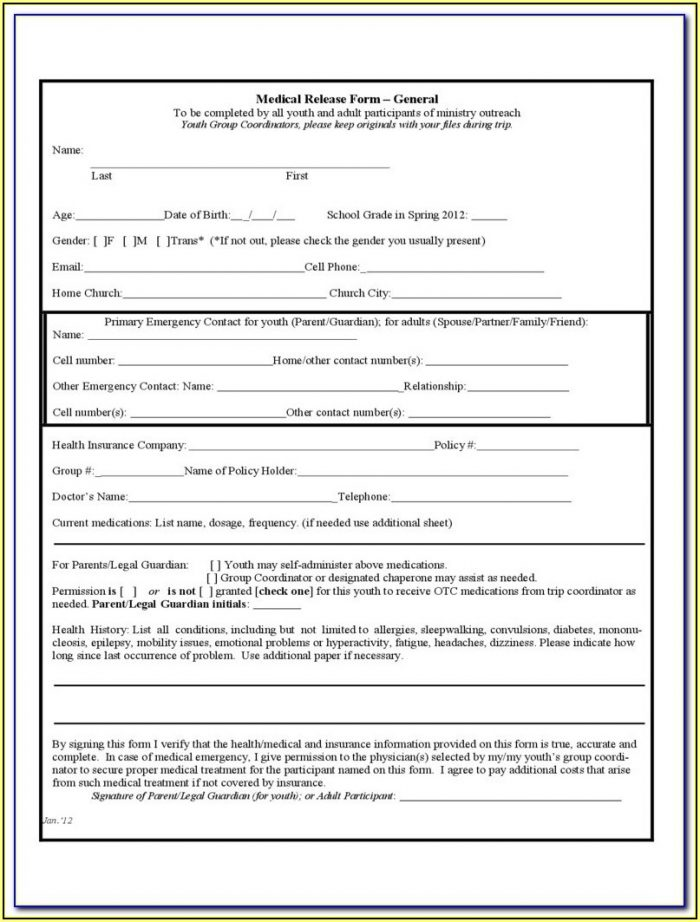 Trampoline Waiver Form
