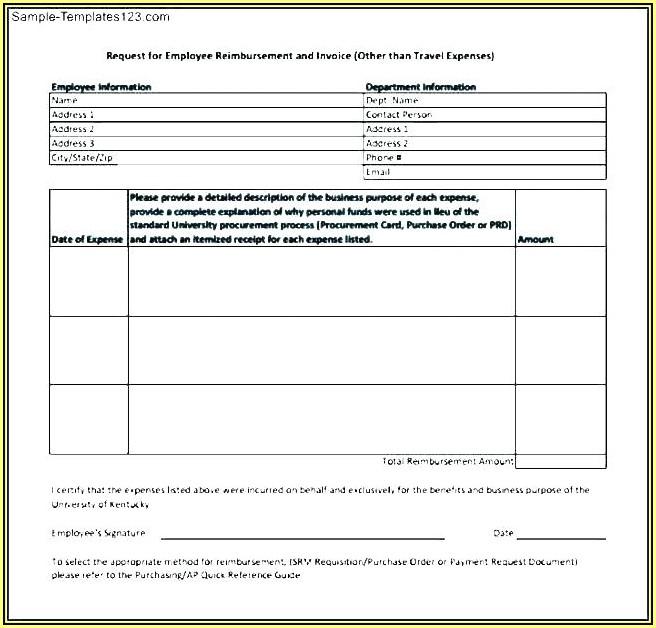 Travel Expenses Reimbursement Form Template