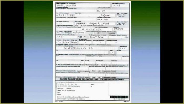 United States Passport Renewal Form Ds 82