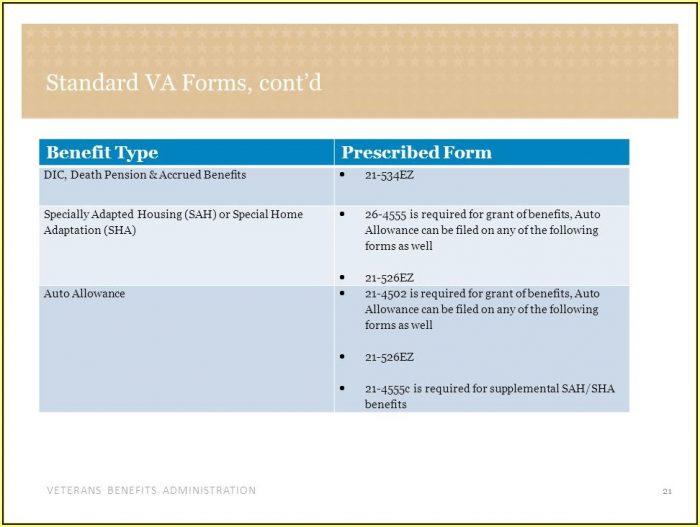 Va Claim Form 21 0304