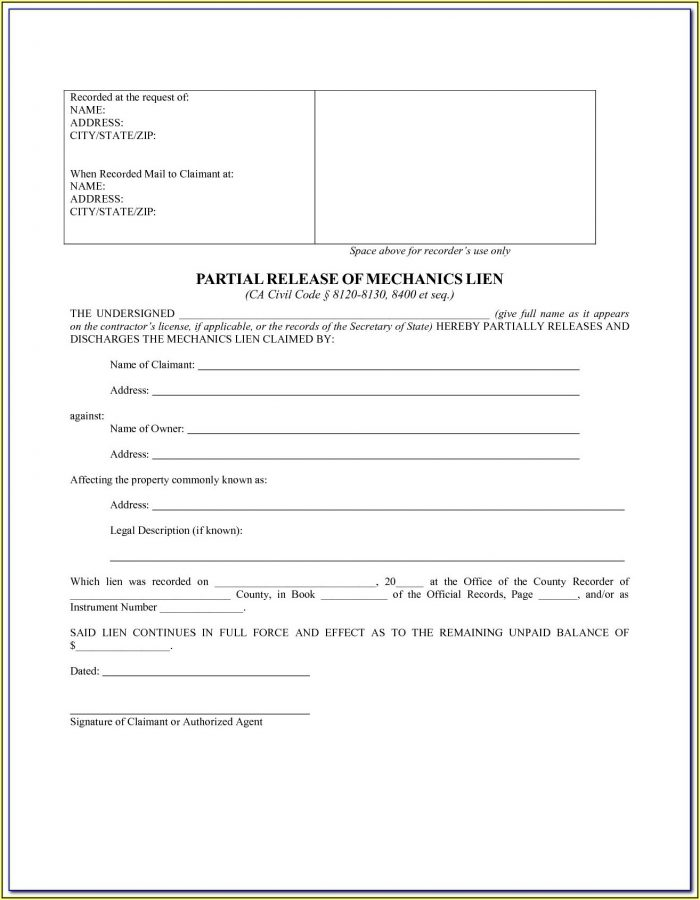 Virginia Mechanic's Lien Waiver Form
