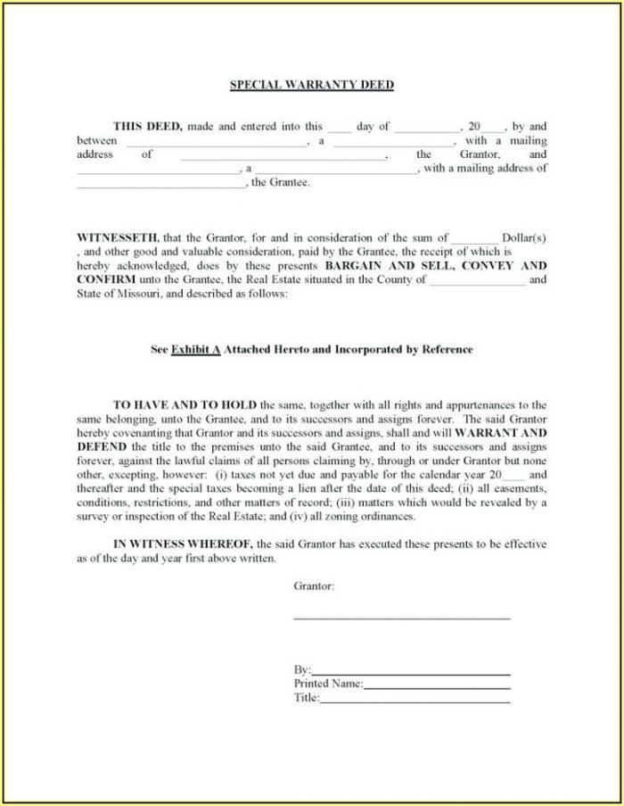 Warranty Deed Form Texas Pdf