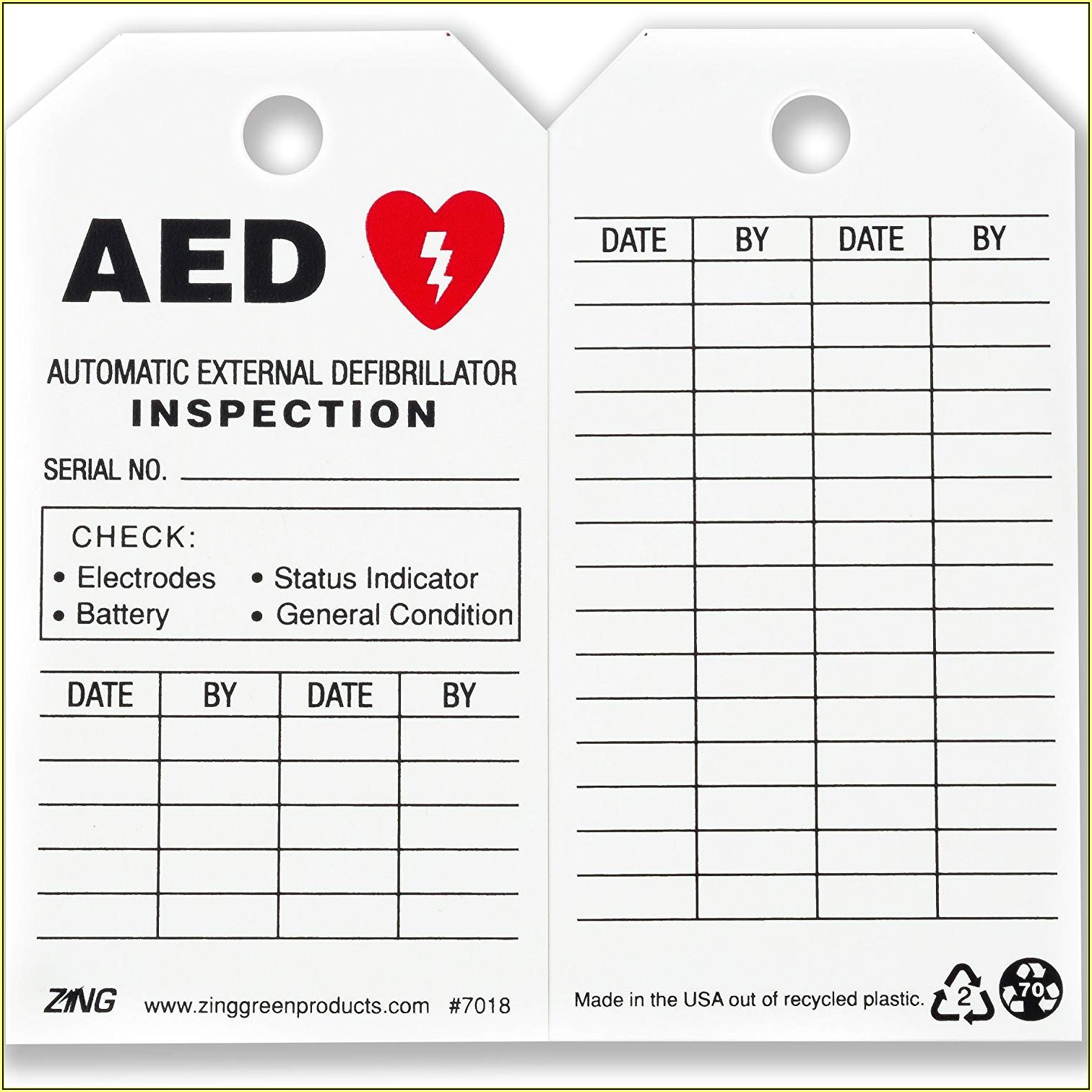 Zoll Aed Inspection Form